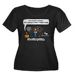 I Bought Women's Plus Size Scoop Neck Dark T-Shirt