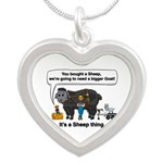 I Bought A Sheep Silver Heart Necklace