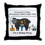 I Bought A Sheep Throw Pillow