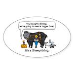 I Bought A Sheep Sticker (Oval)