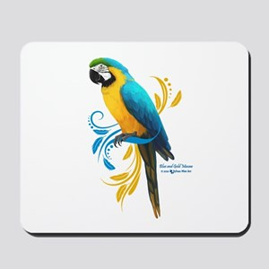 Blue and Gold Macaw Mousepad