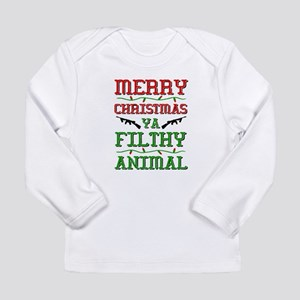 Merry Christmas Ya Filthy Animal funny Long Sleeve