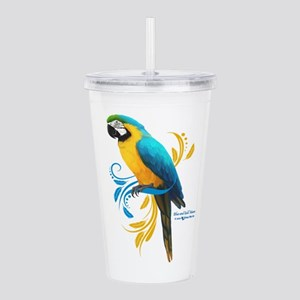 Blue and Gold Macaw Acrylic Double-wall Tumbler