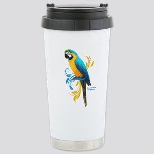 Blue and Gold Macaw Stainless Steel Travel Mug