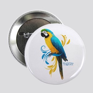 "Blue and Gold Macaw 2.25"" Button"
