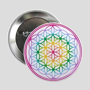 "Flower of Life - Rainbow 2.25"" Button"