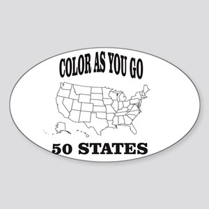 color as you go 50 states help Sticker
