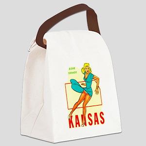 Kansas - Blond Tornado Canvas Lunch Bag