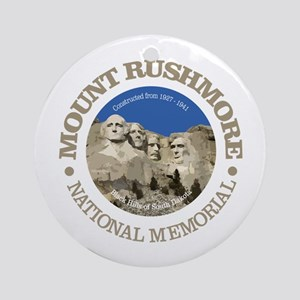 Mount Rushmore Round Ornament