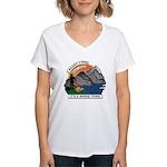 I Bought A Sheep Mountain Women's V-Neck T-Shirt
