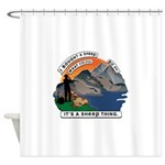 I Bought A Sheep Mountain Shower Curtain