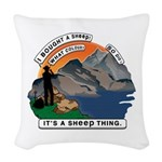 I Bought A Sheep Mountain Woven Throw Pillow