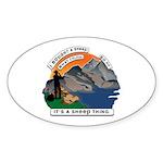 I Bought A Sheep Mountain Sticker (Oval 50 pk)