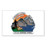 I Bought A Sheep Mountai Sticker (Rectangle 50 pk)