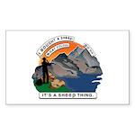 I Bought A Sheep Mountai Sticker (Rectangle 50 pk)