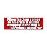 "When fascism comes america 3"" x 10"""