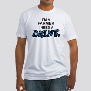 Farmer Need a Drink Fitted T-Shirt