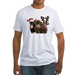 Santa & Friends Fitted T-Shirt