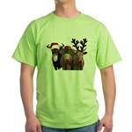 Santa & Friends Green T-Shirt