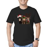 Santa & Friends Men's Fitted T-Shirt (dark)