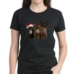 Santa & Friends Women's Dark T-Shirt