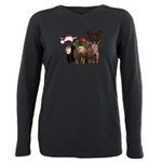 Santa & Friends Plus Size Long Sleeve Tee
