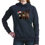 Santa & Friends Women's Hooded Sweatshirt