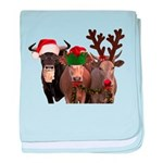 Santa & Friends baby blanket