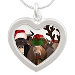 Santa & Friends Silver Heart Necklace