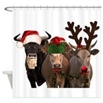 Santa & Friends Shower Curtain