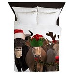 Santa & Friends Queen Duvet