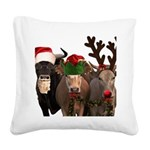 Santa & Friends Square Canvas Pillow