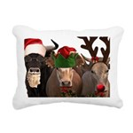 Santa & Friends Rectangular Canvas Pillow
