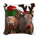Santa & Friends Woven Throw Pillow