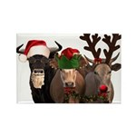 Santa & Friends Rectangle Magnet (100 pack)