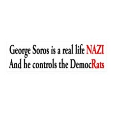 George Soros is a real life NAZI Wall Decal