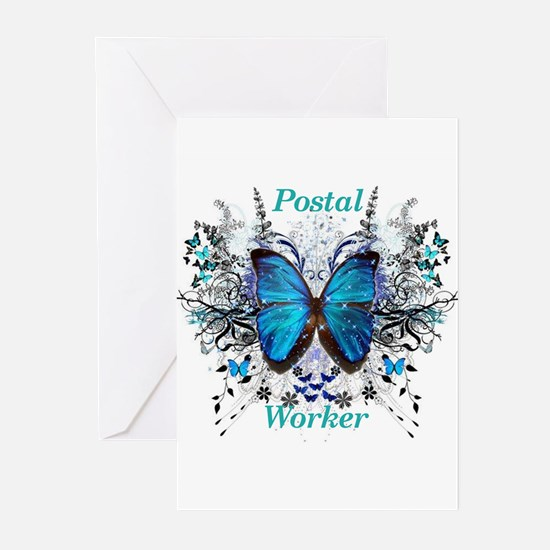 Postal Worker Butterfly Greeting Cards