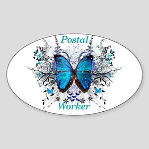 Postal Worker Butterfly Sticker