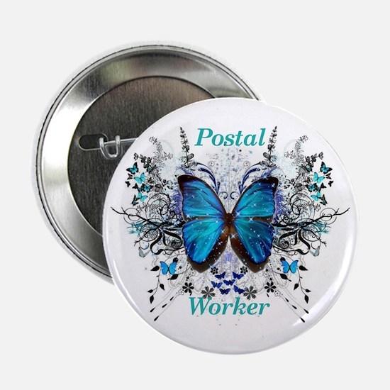 "Postal Worker Butterfly 2.25"" Button"