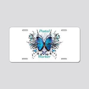 Postal Worker Butterfly Aluminum License Plate