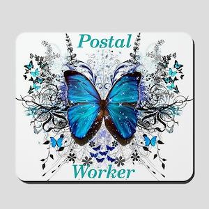 Postal Worker Butterfly Mousepad