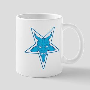 devil pentangle blue Mug