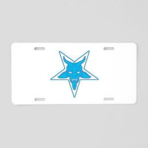 devil pentangle blue Aluminum License Plate