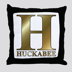 Gold H for Mike Huckabee Throw Pillow
