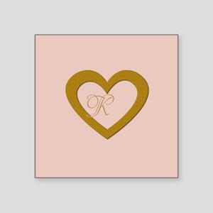 Pink Rose Gold Heart Add Text Sticker