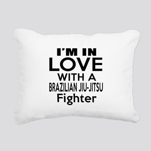 I Am In Love With Brazil Rectangular Canvas Pillow