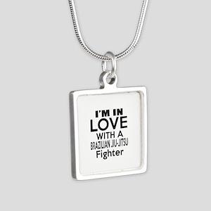 I Am In Love With Brazilia Silver Square Necklace