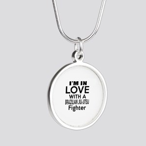 I Am In Love With Brazilian Silver Round Necklace