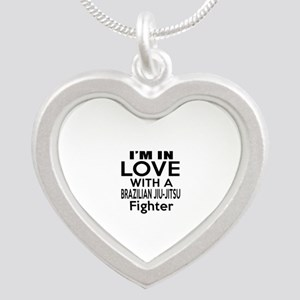 I Am In Love With Brazilian Silver Heart Necklace