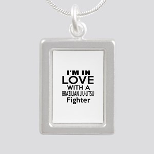 I Am In Love With Brazil Silver Portrait Necklace